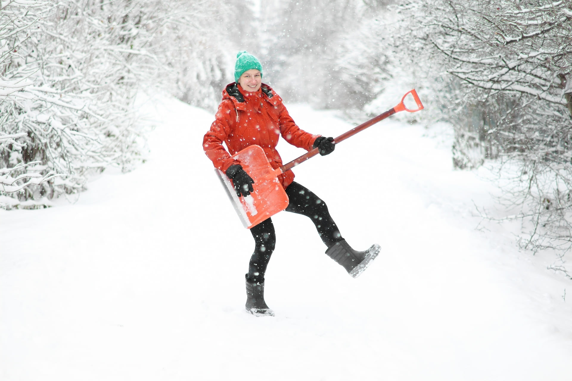 How you can make it easier for yourself to clear snow on the site